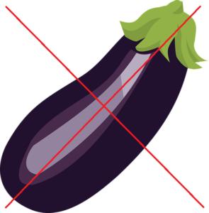米茄子はダメですよ、の画像